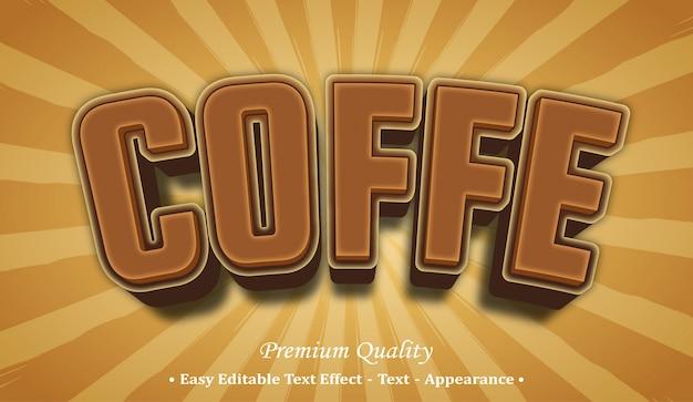Kaffee-schriftstil-effekt