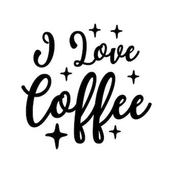 Kaffee schriftzug typografie poster motivierende zitate illustration