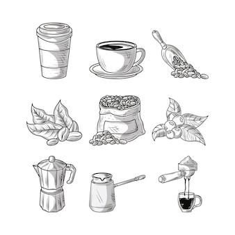 Kaffee-skizze einstellen