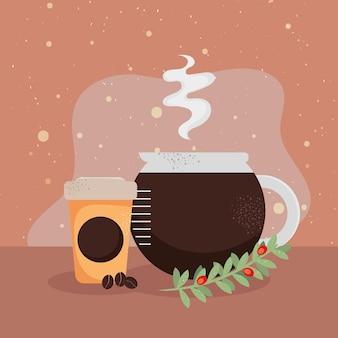 Kaffee teekanne und kanne