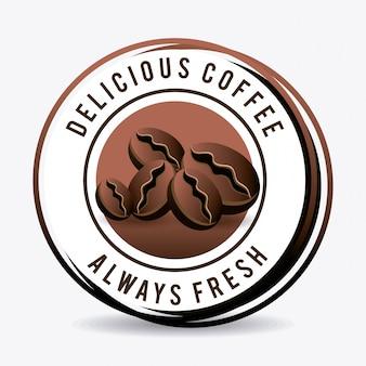 Kaffee trinken design.