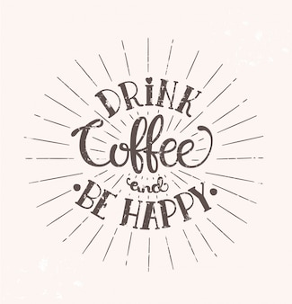 Kaffee trinken und glücklich sein