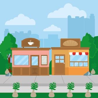 Kaffee- und bäckereigeschäfte