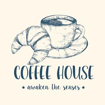 Kaffee und croissant