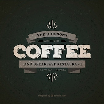 Kaffee und frühstücksrestaurant abzeichen