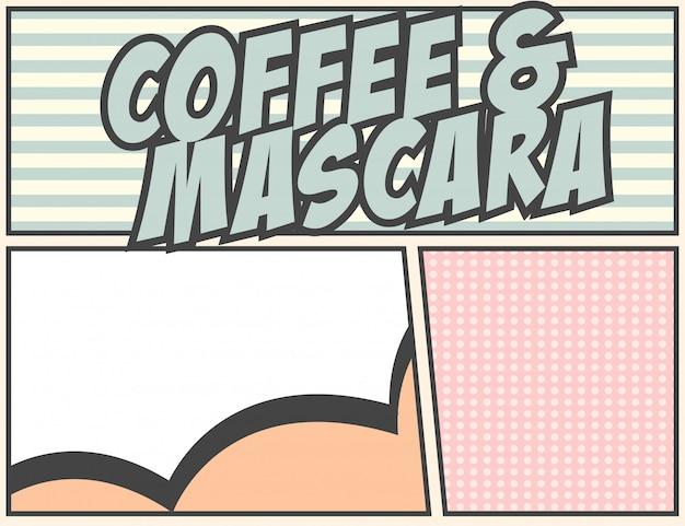 Kaffee und mascara