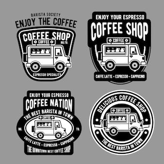 Kaffee van abzeichen design