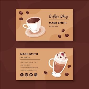Kaffee visitenkarte set vorlage