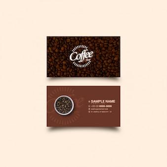 Kaffee visitenkarten vorlage
