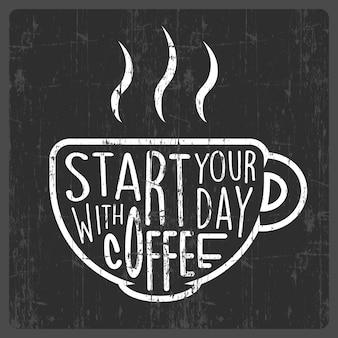 Kaffee zitat typografie poster beschilderung