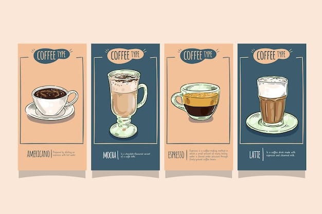 Kaffeearten instagram geschichten