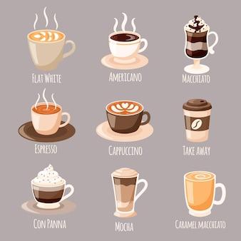 Kaffeeartenkonzept