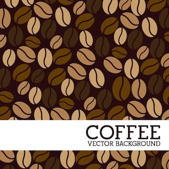 Kaffeeauslegung über brauner hintergrundvektorillustration