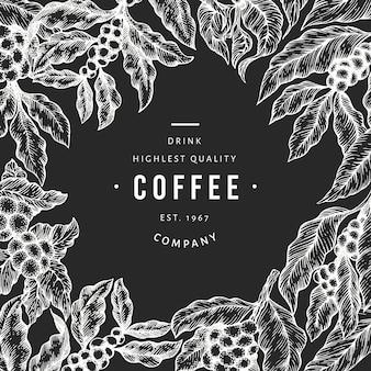 Kaffeebaumastillustration.