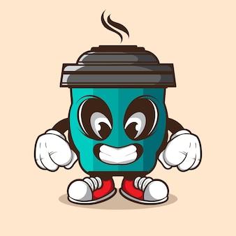 Kaffeebecher doodle charakter