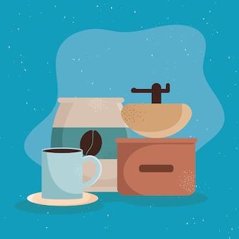 Kaffeebecher und toaster