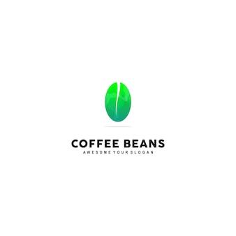Kaffeebohnen-logo-vorlage