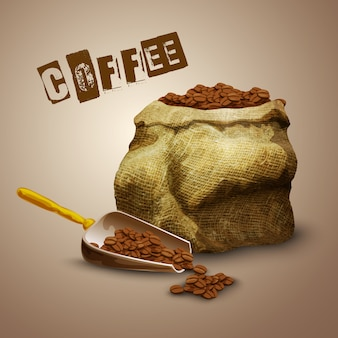Kaffeebohnen tasche