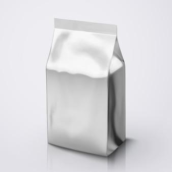 Kaffeebohnenpaket, silberfolienpaket in der abbildung zur verwendung