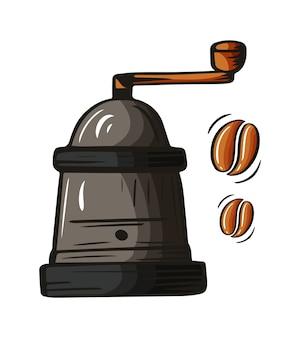 Kaffeeelement, handgezeichnete skizze des getränks für kaffeemenü