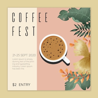 Kaffeefest-konzept
