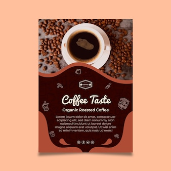 Kaffeegeschmacksplakatschablone