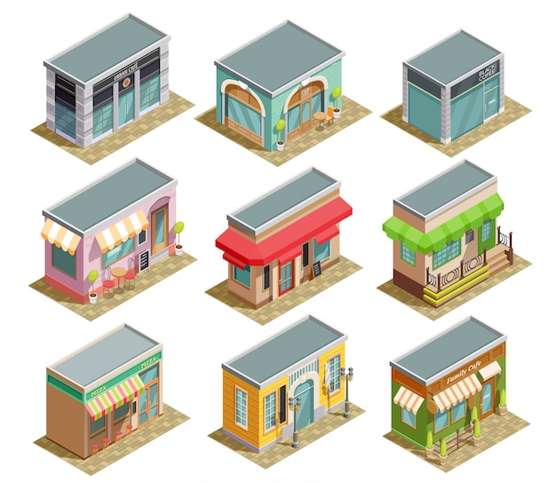 Kaffeehaus isometric set
