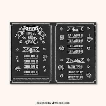 Kaffeehaus-menü-vorlage