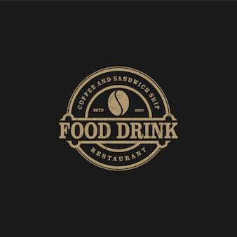 Kaffeelogo für café resto und produktaufkleber, lebensmittelgetränk