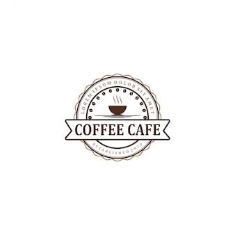 Kaffeelogo für cafe resto und produktetikett