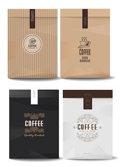 Kaffeelogos für die verpackung