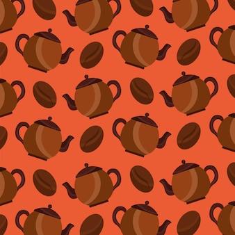 Kaffeemaschine und samen korn aroma hintergrund