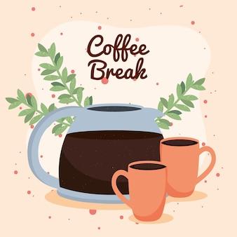Kaffeepause schriftzug