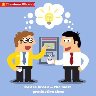 Kaffeepause-zusammenarbeit