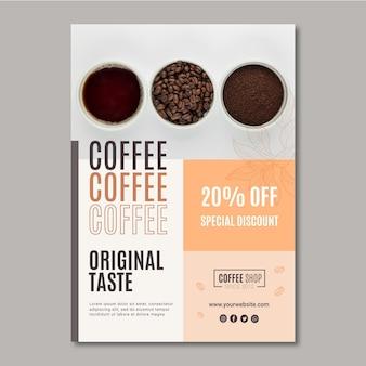 Kaffeeplakatschablone