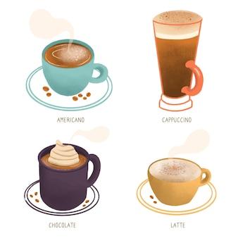 Kaffeesorten sammlung