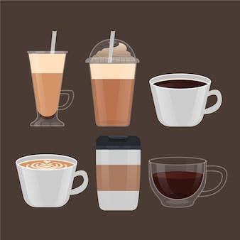 Kaffeesorten sortiment Kostenlosen Vektoren