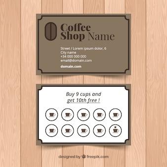 Kaffeestube-kundenkartenschablone mit elegantem gerstenkorn