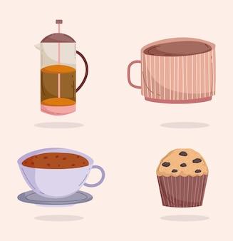 Kaffeesymbole eingestellt