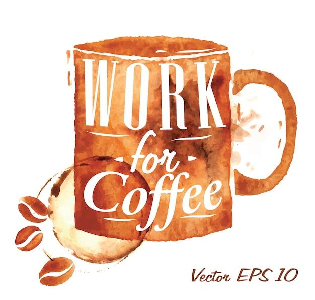 Kaffeetasse arbeiten für kaffee
