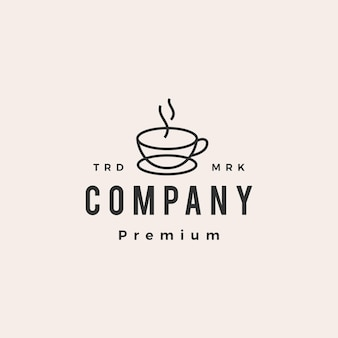 Kaffeetasse café hipster vintage logo symbol illustration