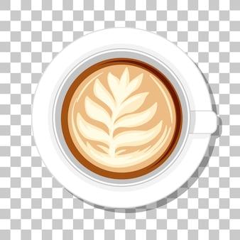 Kaffeetasse draufsicht lokalisiert auf transparentem hintergrund