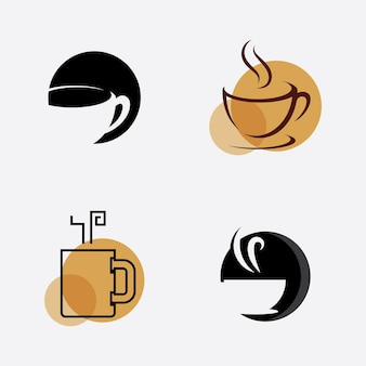 Kaffeetasse logo coffee shop vektor icon design