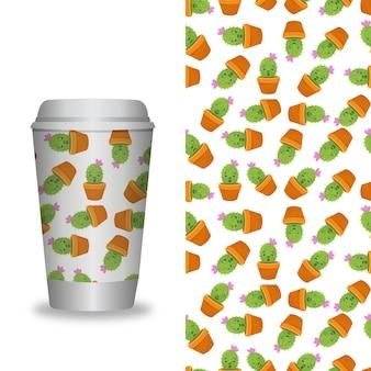 Kaffeetasse mit mustervorlage