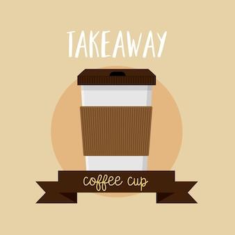 Kaffeetasse nehmen flache ikone des ikonenlogos weg