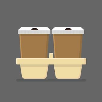 Kaffeetasse nehmen lokalisierte flache ikone weg