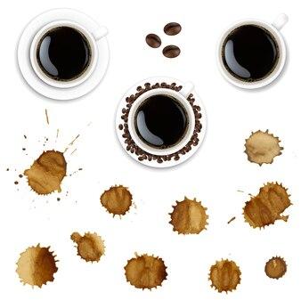 Kaffeetasse und kaffeefarbe