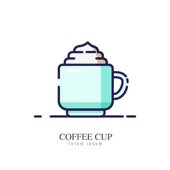 Kaffeetasseikone auf einem weißen hintergrund
