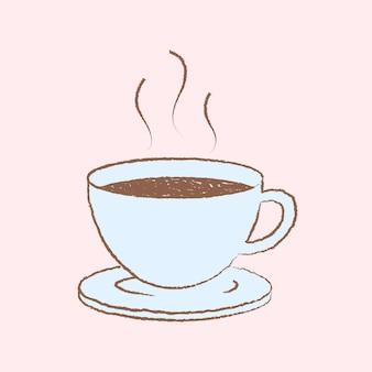 Kaffeetasseillustration, frühstücksgestaltungselementvektor