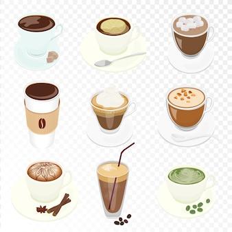 Kaffeetassen eingestellt